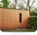 Gevelbekleding en plat dak, Merksem